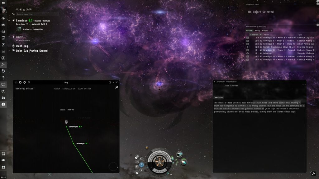 EVE Online Trace Cosmos Landmark Guide